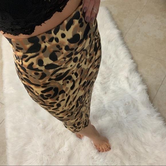 bebe Dresses & Skirts - Bebe High Waisted Midi Pencil Skirt Animal Print